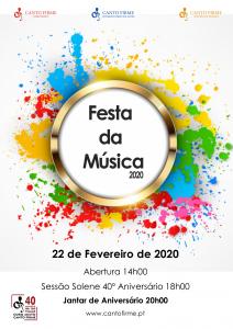 Cartaz Festa da Música 2020